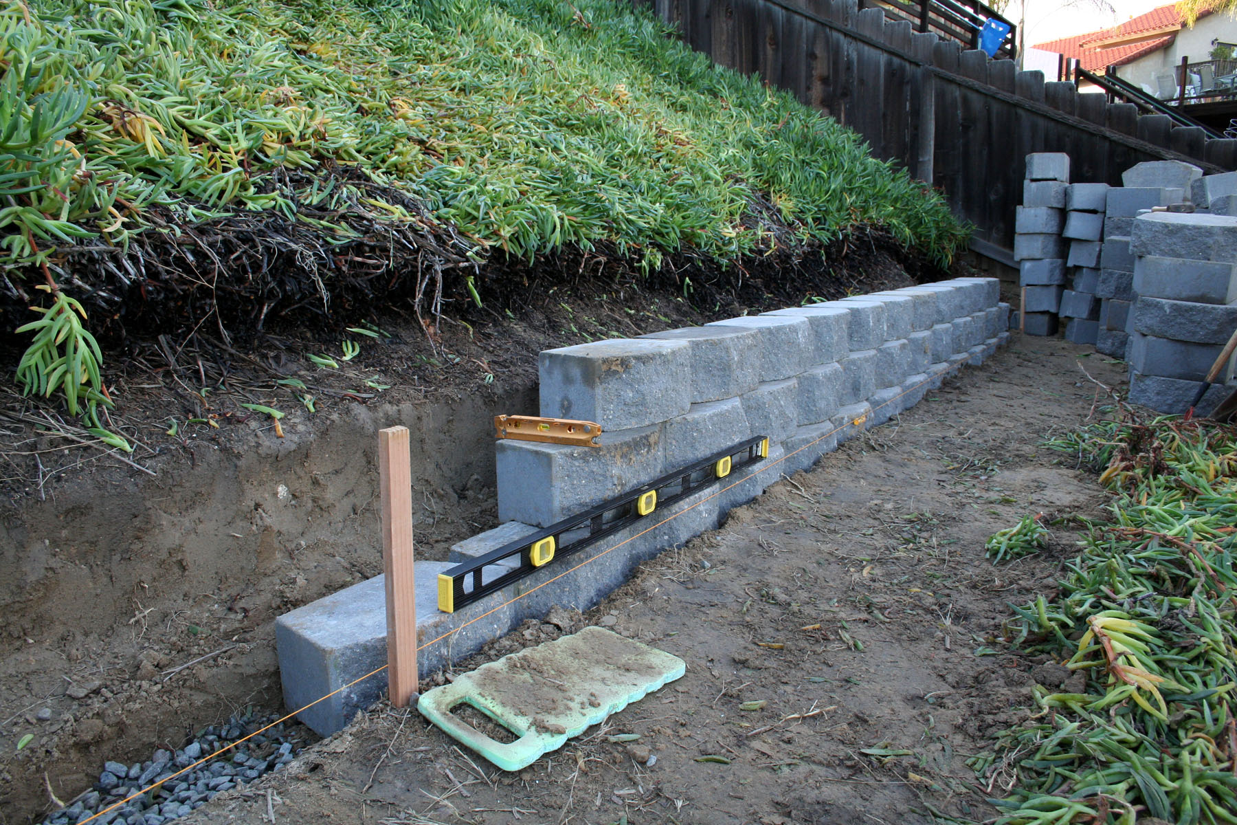 how to build up a sloped yard