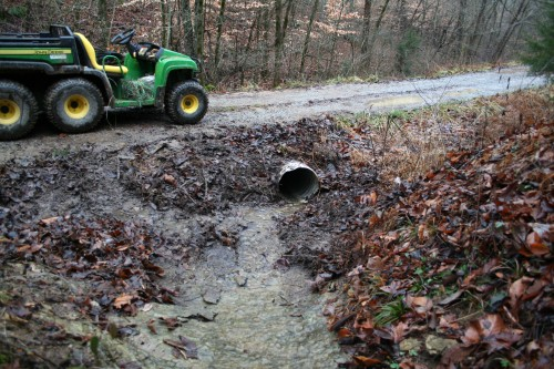 Culvert cleaning after rain